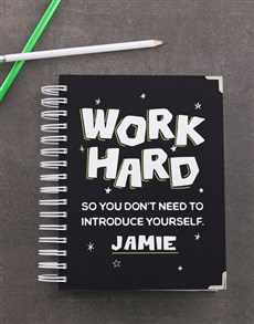 gifts: Personalised Work Hard Diary!