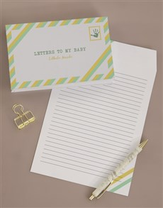 gifts: Personalised Letters To My Baby Notebook!