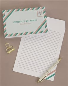 gifts: Personalised Letters To My Friend Notebook!