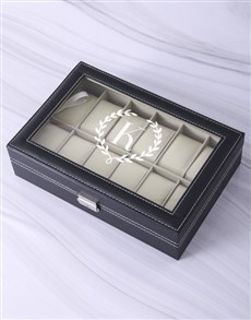 gifts: Personalised Wreath Monogram Watch Box!