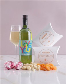 gifts: Personalised Love You Wine and Snack Hamper!