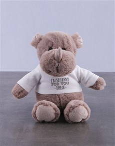 gifts: Personalised Rhino Teddy Toy Gift!