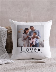 gifts: Personalised Family Love Scatter Cushion!