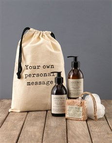 gifts: Personalised Typed Rooibos Bath Time Bag!