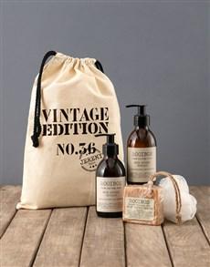 gifts: Personalised Vintage Rooibos Bath Time Bag!