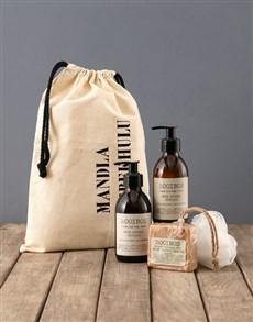 gifts: Personalised Rustic Rooibos Bath Time Bag!