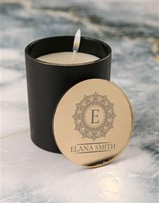 gifts: Personalised Mandala Vanilla Scented Candle Set!