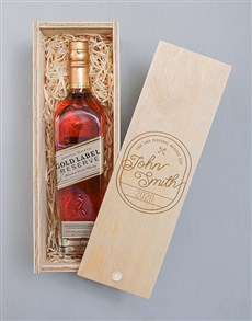 gifts: Personalised Vintage Johnnie Walker Crate!