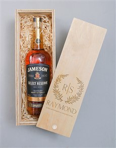 gifts: Personalised Wreath Jameson Crate!