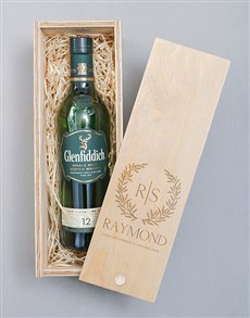 gifts: Personalised Wreath Glenfiddich Crate!