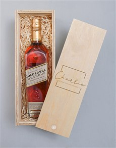 gifts: Personalised Classic Johnnie Walker Red Crate!