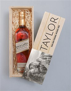 gifts: Personalised Photo Johnnie Walker Red Crate!