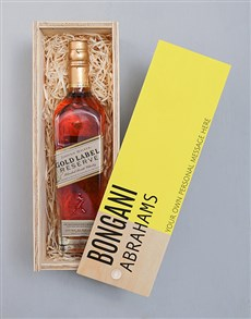 gifts: Personalised Modern Johnnie Walker Red Crate!