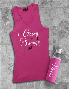 gifts: Personalised Classy Racerback and Water Bottle!