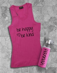 gifts: Personalised Be Kind Racerback and Water Bottle!