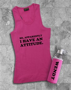 gifts: Personalised Attitude Racerback and Water Bottle!