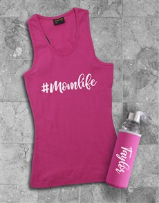 gifts: Personalised Mom Life Racerback and Water Bottle!