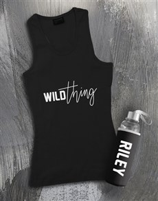 gifts: Personalised Wild Thing Racerback and Water Bottle!