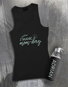 gifts: Personalised Manic Mom Day Racerback and Bottle!