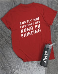gifts: Personalised Kung Fu Fighting T Shirt and Bottle!