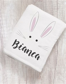 gifts: Personalised Bunny Baby Blanket!