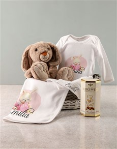 gifts: Personalised Pink Bunny Baby Clothing Gift!