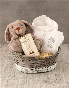 gifts: Personalised Blue Bunny Baby Gown!