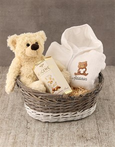 gifts: Personalised Bear Love Baby Gown!
