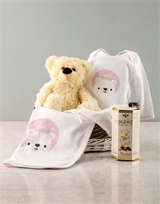 gifts: Personalised Pink Bear Baby Clothing Gift!