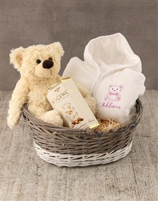 gifts: Personalised Teddy Sketch Baby Gown!