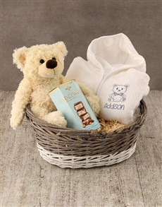 gifts: Personalised Sketched Bear Baby Gown!