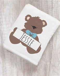 gifts: Personalise Bear Hugs Baby Blanket!