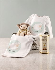 gifts: Personalised Sheep Baby Gift Set!