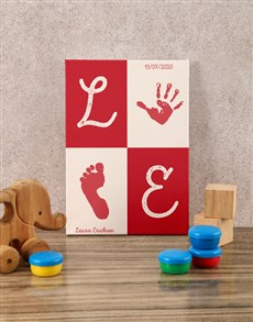 gifts: Personalised Love Print Baby Canvas!