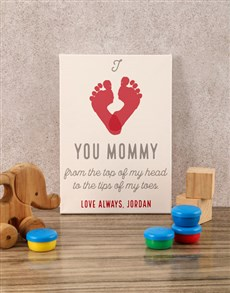 gifts: Personalised Love You Mommy Baby Canvas!