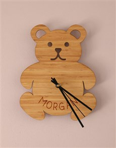 gifts: Personalised Little Bear Baby Clock!