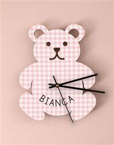 gifts: Personalised Baby Girl Nursery Clock !