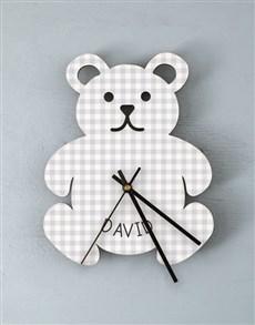 gifts: Personalised Baby Boy Nursery Clock !