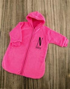 gifts: Personalised Baby Sleeping Hamper in Pink!