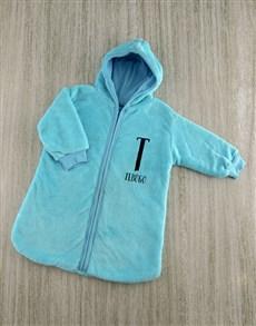 gifts: Personalised Baby Sleeping Hamper in Blue!