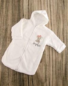 gifts: Personalised Pink Elephant Baby Sleeping Hamper!