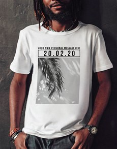 gifts: Personalised Photo Message Date T Shirt!