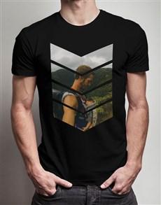 gifts: Personalised Black Chevron Photo T Shirt!