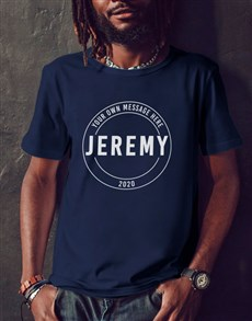 gifts: Personalised Black Retro Stamp T Shirt!