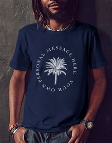 gifts: Personalised Black Palm Tree Message T Shirt!