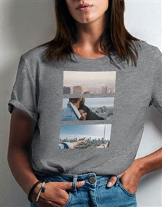 gifts: Personalised Photo Triptych Ladies T Shirt!