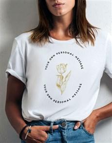 gifts: Personalised Tulip Ladies T Shirt!