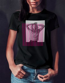 gifts: Personalised Colour Bars Photo Black T Shirt!