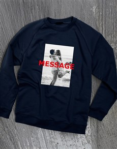 gifts: Personalised Photo Overlay Navy Sweatshirt!