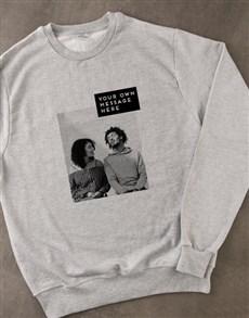 gifts: Personalised Photo Block Grey Sweatshirt!